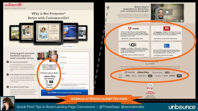 """Customerville """"See Demo"""" LP  WEBINAR ATTENDEE-SUBMITTED PAGE  http://try.customerville.com/for-net-promoter-score-voice-of..."""