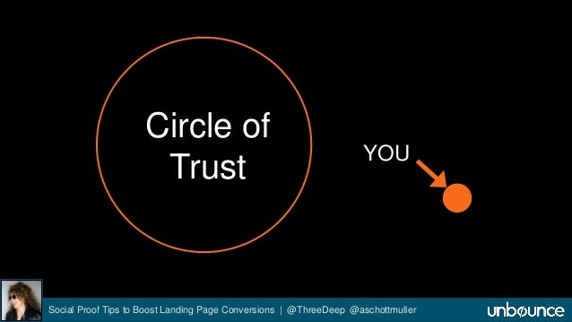 Circle of  Trust YOU  Social Proof Tips to Boost Landing Page Conversions | @ThreeDeep @aschottmuller