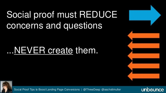 Social proof must REDUCE  concerns and questions  ...NEVER create them.  Social Proof Tips to Boost Landing Page Conversio...