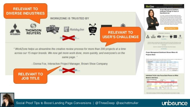 RELEVANT TO  DIVERSE INDUSTRIES  RELEVANT TO  JOB TITLE  RELEVANT TO  USER'S CHALLENGE  Social Proof Tips to Boost Landing...