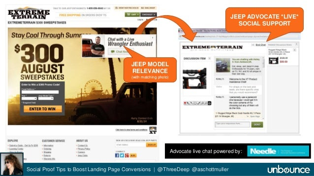 ExtremeTerrain Advocate Live Chat  Social Proof Tips to Boost Landing Page Conversions | @ThreeDeep @aschottmuller  JEEP A...