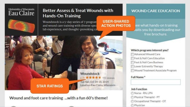 USER-SHARED  ACTION PHOTOS  STAR RATINGS  Social Proof Tips to Boost Landing Page Conversions | @ThreeDeep @aschottmuller