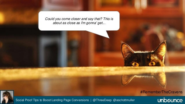 Social Proof Tips to Boost Landing Page Conversions | @ThreeDeep @aschottmuller  #RememberTheCravens  Could you come close...