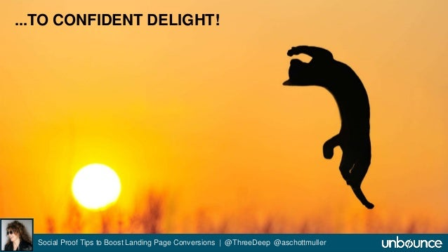 ...TO CONFIDENT DELIGHT!  Social Proof Tips to Boost Landing Page Conversions | @ThreeDeep @aschottmuller