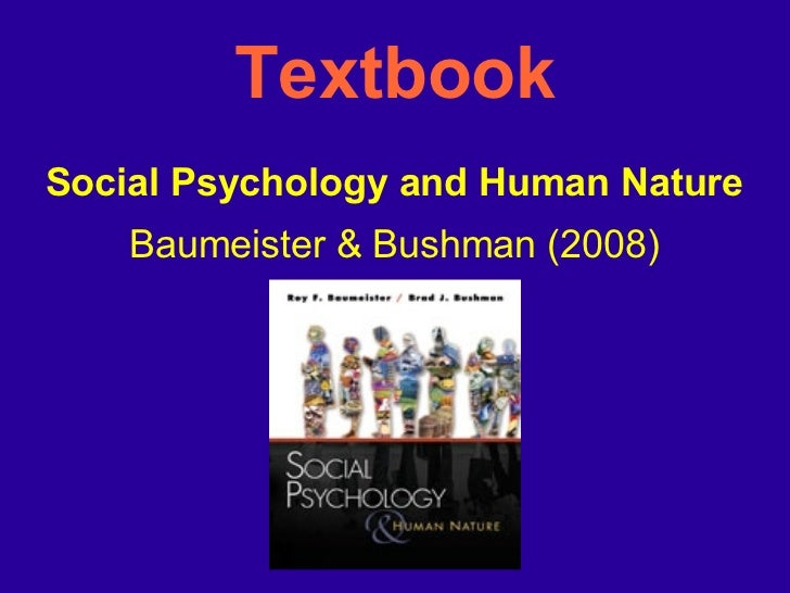 Social Psychology Human Nature Baumeister