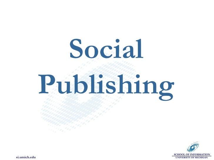 Social Publishing