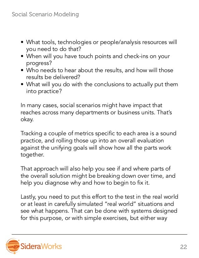 Social Scenario Modeling - A Process For Uncovering and Managing Risk…