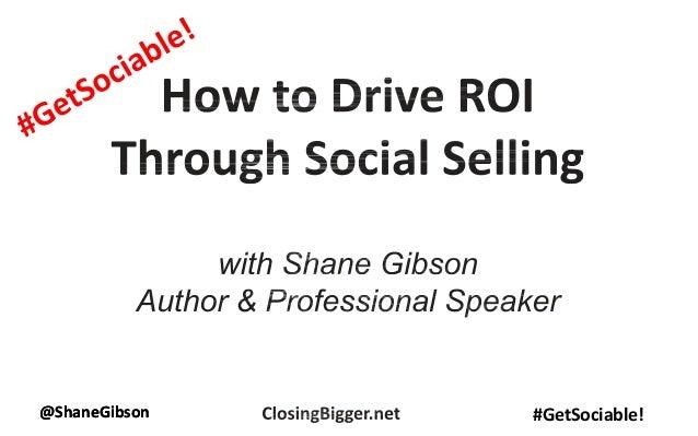 @ShaneGibson #GetSociable!@ShaneGibson