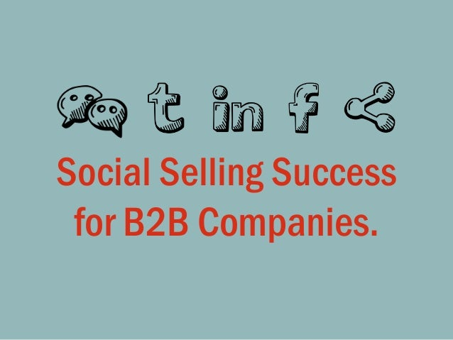@LisaMasiello #SocialSelling Social Selling Success for B2B Companies.