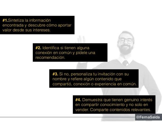 #1.Sintetiza la información encontrada y descubre cómo aportar valor desde sus intereses. #2. Identifica si tienen alguna c...