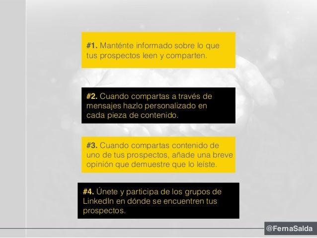 #2. Cuando compartas a través de mensajes hazlo personalizado en cada pieza de contenido. #4. Únete y participa de los gru...