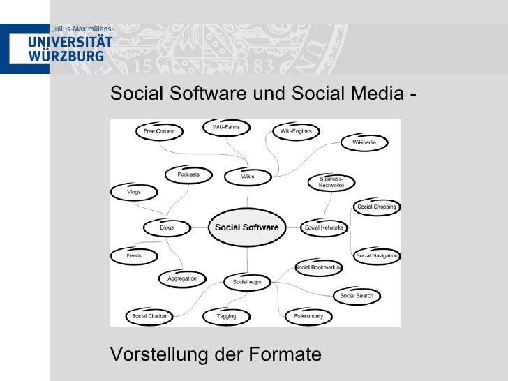 Social Software und Social Media - Vorstellung der Formate