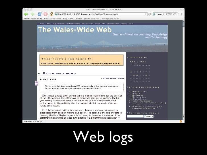 Web logs