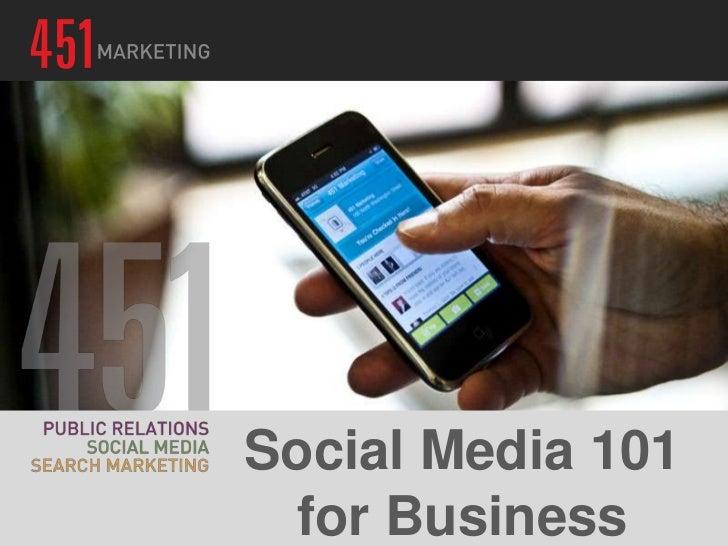 Social Media 101  for Business