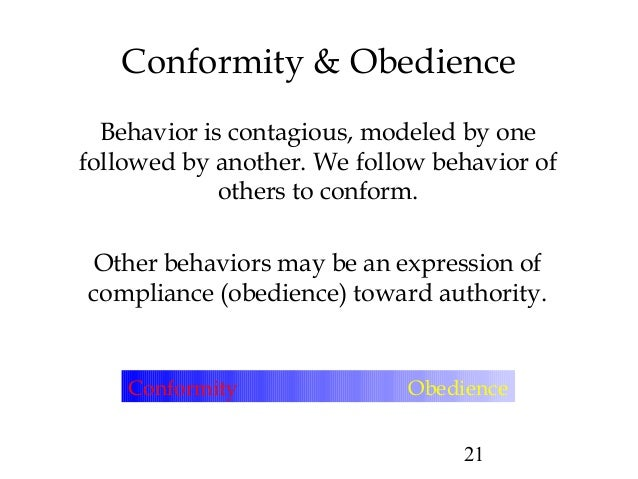 obedience conformity and compliance