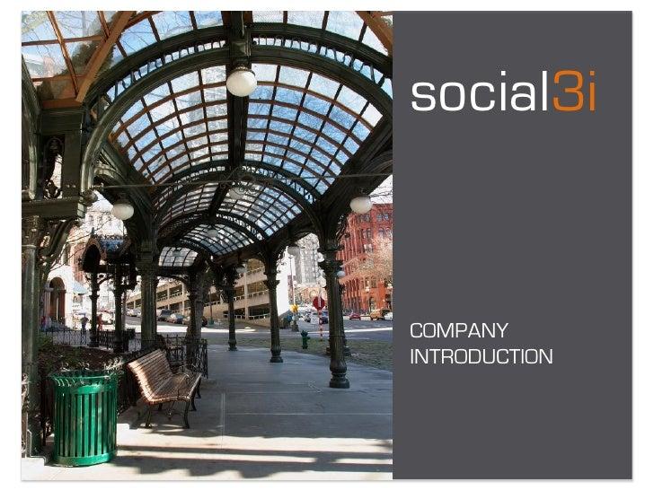 social3i   COMPANY INTRODUCTION