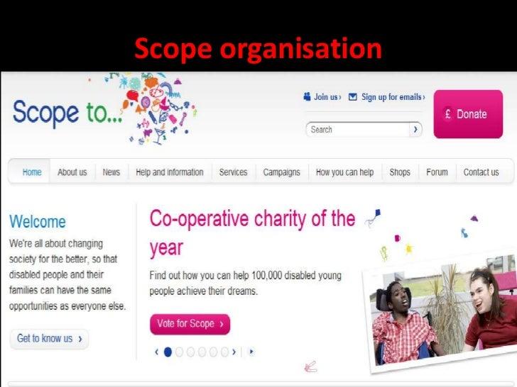 Scope organisation