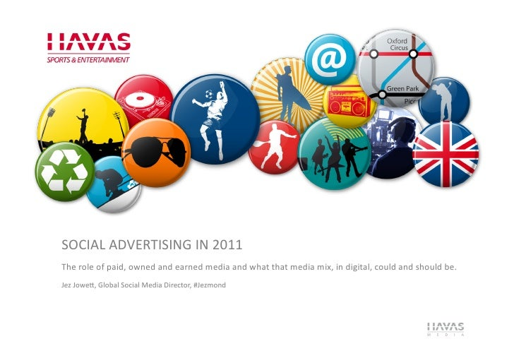 SOCIAL ADVERTISING IN 2011 The role of paid, owned and earned media and what that media mi...