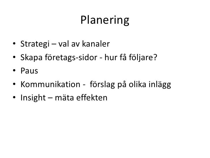 Kommunikation i Sociala medier Slide 2