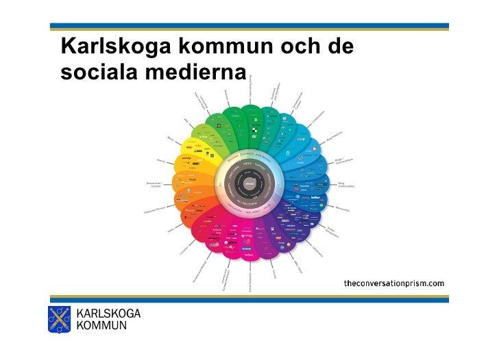 Karlskoga kommun och de  sociala medierna