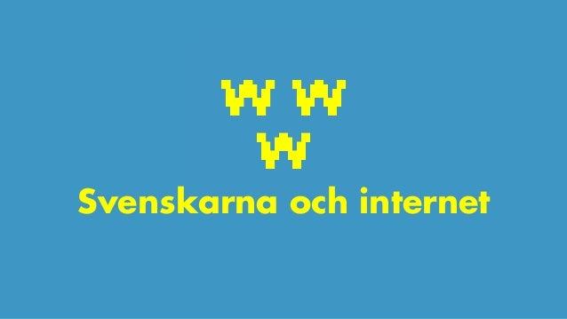 Svenskarna och internet