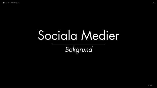 H O U S E O F F R I E N D S © 2 0 1 7 7 Bakgrund Sociala Medier