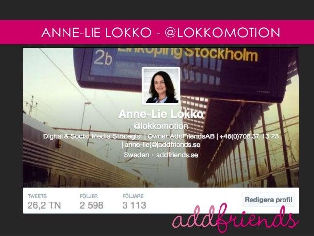 ANNE-LIE LOKKO - @LOKKOMOTION
