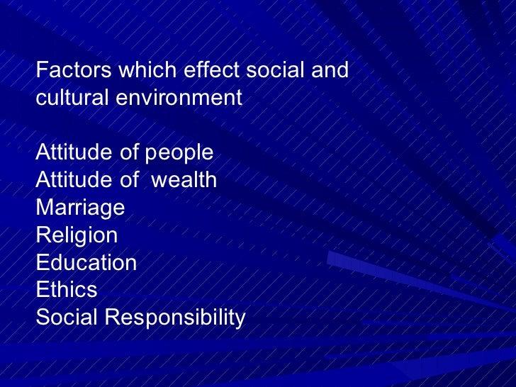 social cultural environment