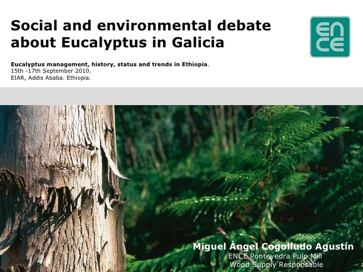Social and environmental debate about Eucalyptus in Galicia <ul><li>Eucalyptus management, history, status and trends in E...
