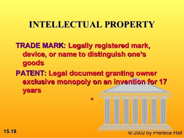 patents - intellectual property or government granted monopolies essay A government-granted monopoly or legal monopoly, by contrast, is sanctioned by the state, often to provide an incentive to invest in a risky venture or enrich a domestic interest group patents, copyright, and trademarks are all examples of government granted and enforced monopolies.