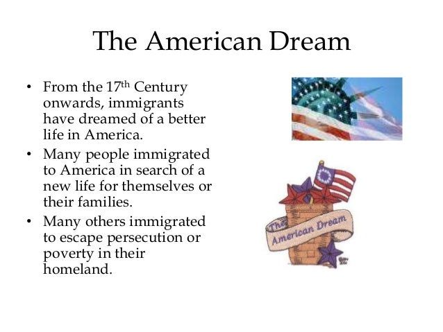 Thesis immigration american dream