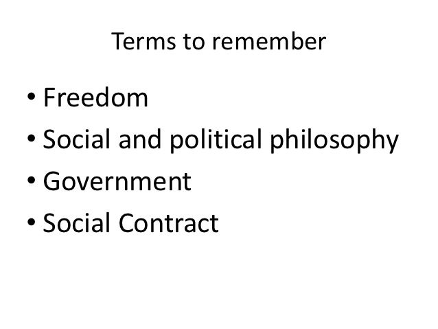 Social and political philosophy lesson 1