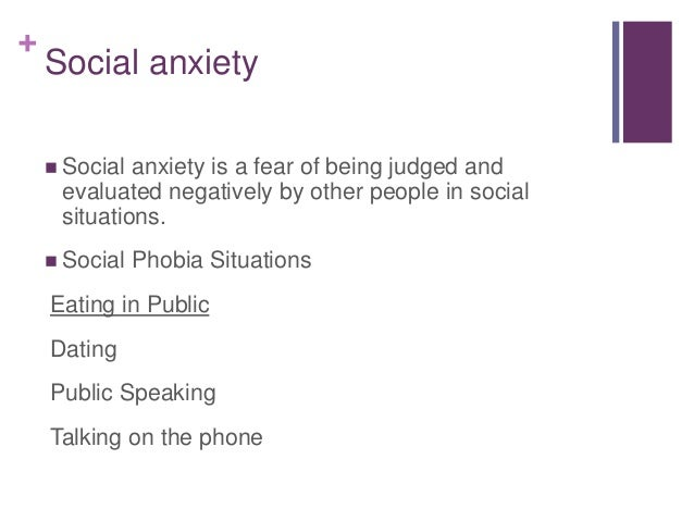 Singles interested in social anxiety