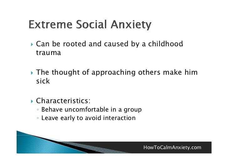 Anxiety Caused By Childhood Trauma - Etuttor