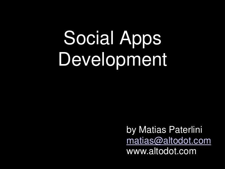 Social Apps Workshop