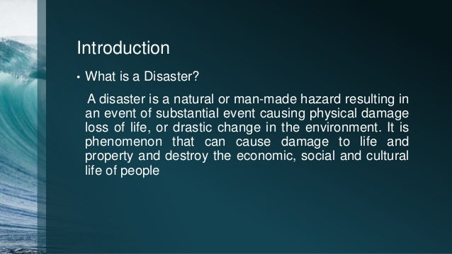 Project On Natural Disasters For Class Th