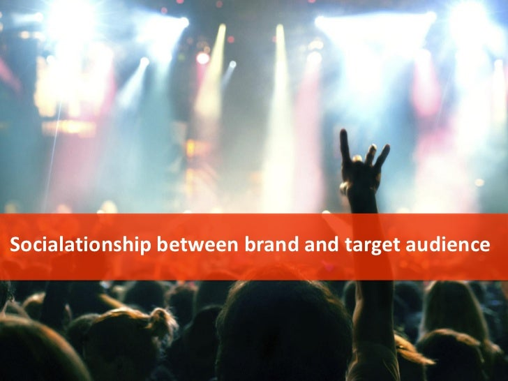 Socialationship between brand and target audience