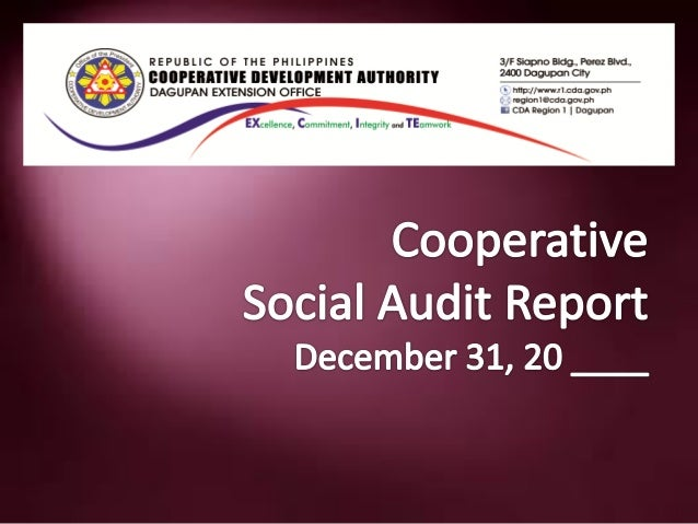 General Information:• Name of Cooperative as of the latest  amendment:• Present Address of Cooperative• Type of Cooperativ...
