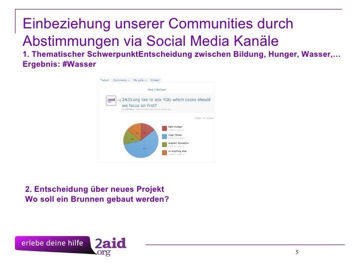 5 Einbeziehung unserer Communities durch Abstimmungen via Social Media Kanäle 1. Thematischer SchwerpunktEntscheidung zwi...