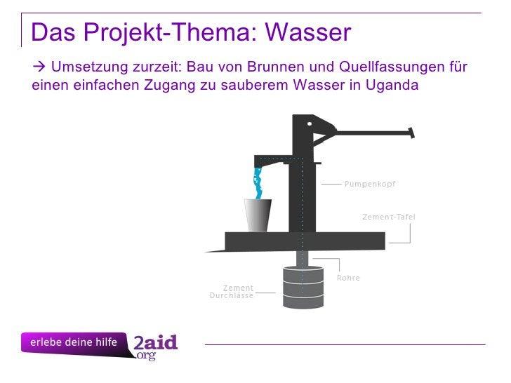 Das Projekt-Thema: Wasser    Umsetzung zurzeit: Bau von Brunnen und Quellfassungen für einen einfachen Zugang zu sauberem...