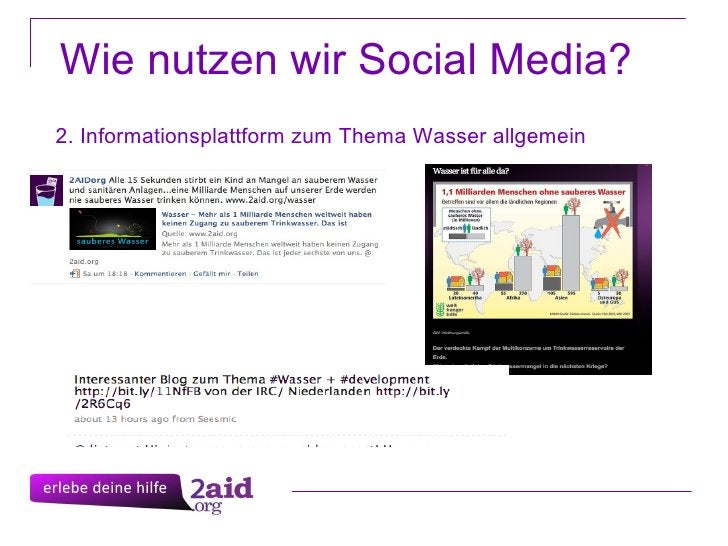 Wie nutzen wir Social Media? 2. Informationsplattform zum Thema Wasser allgemein