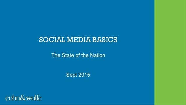 SOCIAL MEDIA BASICS The State of the Nation Sept 2015