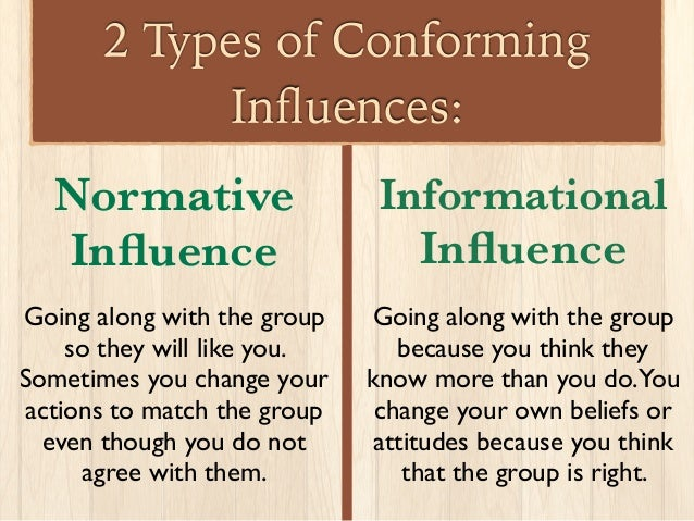 is conformity to group norms a Chapter 7: conformity, compliance, and obedience i norms (and/or perceived group pressure) - anti-conformity = change behavior to go perpetuation of group norms.