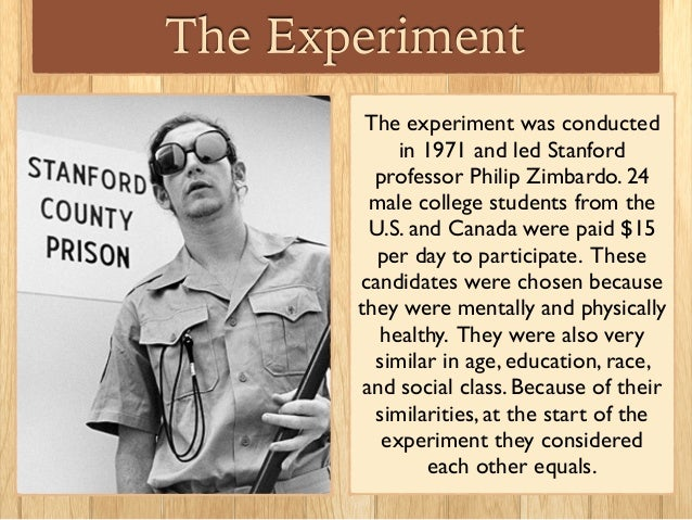 stanford experiment Great question and i was also egar to find out the answer so i googled it and found this according to philip zimbardo, the prisoners have no negative long term.