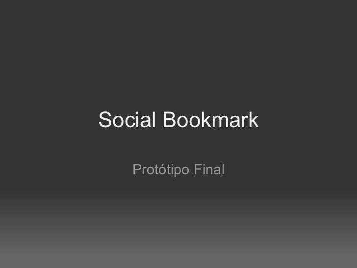 Social Bookmark Protótipo Final