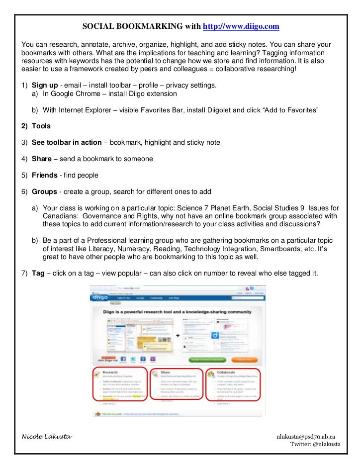 SOCIAL BOOKMARKING with http://www.diigo.com<br />You can research, annotate, archive, organize, highlight, and add sticky...