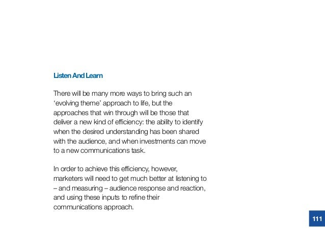 ListenAndLearn There will be many more ways to bring such an 'evolving theme' approach to life, but the approaches that wi...