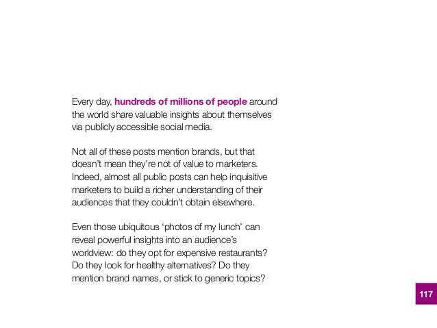 Every day,hundreds of millions of peoplearound the world share valuable insights about themselves via publicly accessibl...