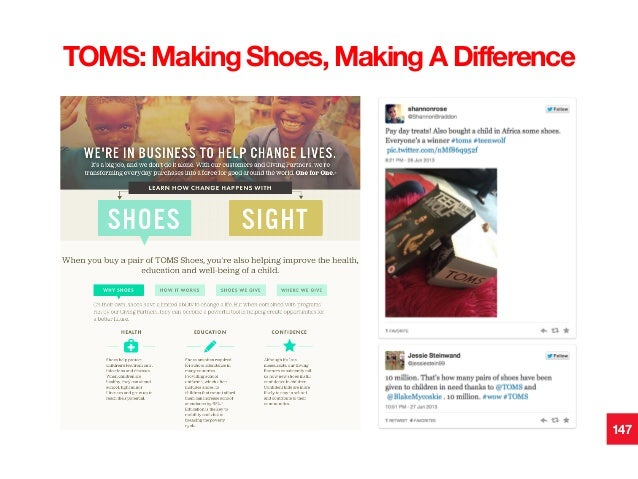 147 TOMS: Making Shoes, Making A Difference!