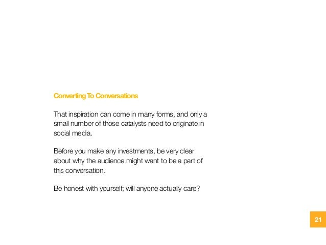 ConvertingToConversations That inspiration can come in many forms, and only a small number of those catalysts need to orig...